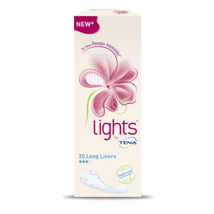 Proteggi Slip Lights By Tena Lungo Disteso 20 Pezzi