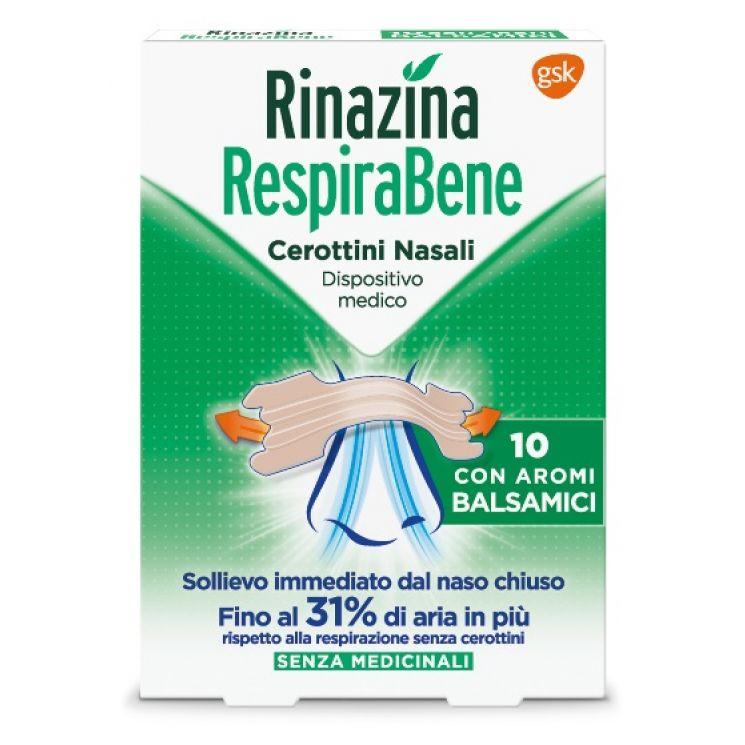 Rinazina Respirabene Aromi Balsamici 10 Cerotti Nasali