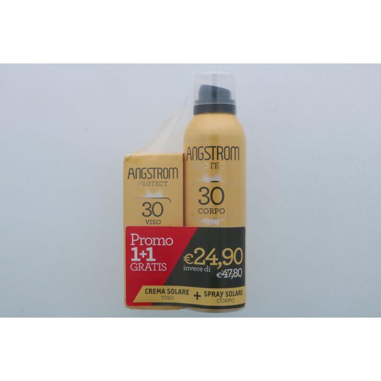 Angstrom Protect Bipacco Spray Corpo SPF30 150ml + Crema Viso SPF30 50ml
