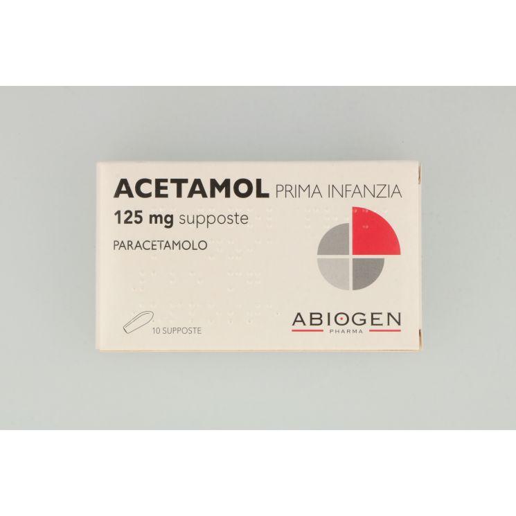 Acetamol Prima Infanzia 10 Supposte 125 mg