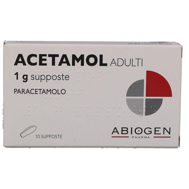Acetamol Adulti 10 Supposte 1 g 023475066