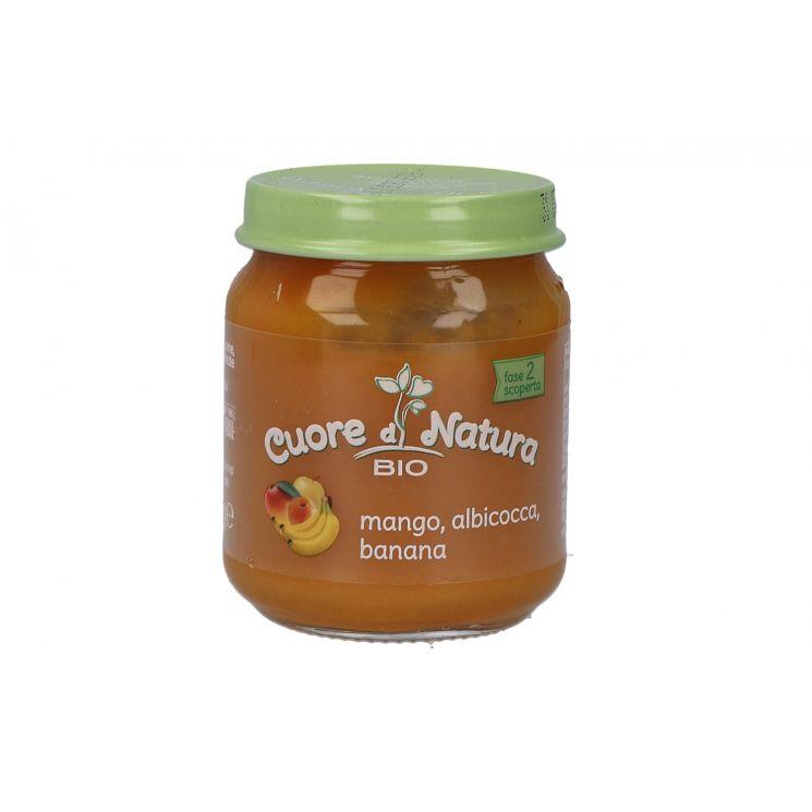 Cuore Di Natura Bio Omogeneizzato Mango, Albicocca E Banana