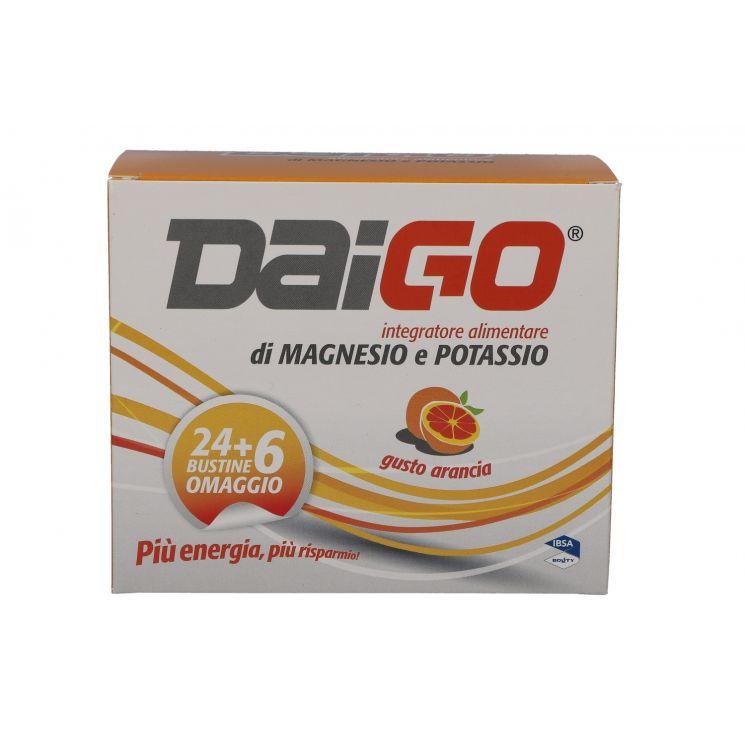 DAIGO MAGNESIO E POTASSIO GUSTO ARANCIA 24+6 BUSTINE IN OMAGGIO 240G