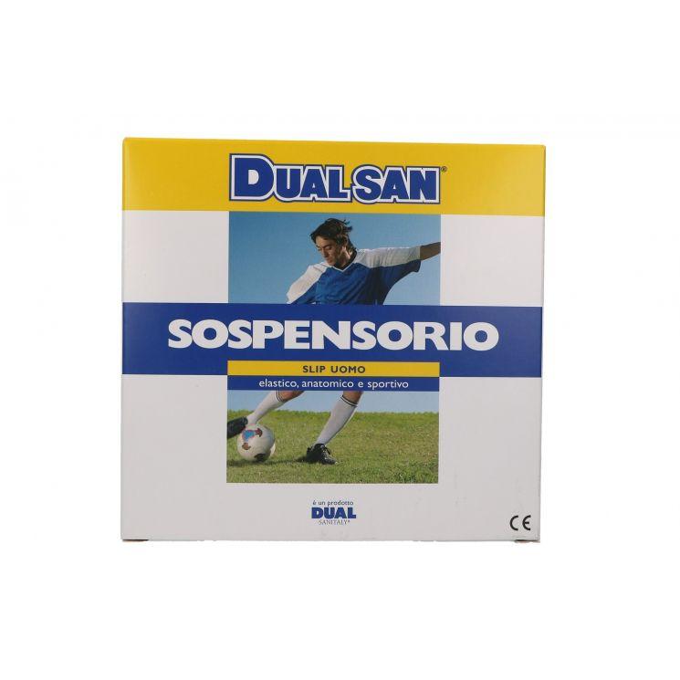 DUALSAN SLIP UOMO SOSPENSORIO SPORT BIANCO TAGLIA 5