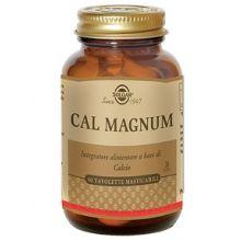 CAL MAGNUM SOLGAR 60 TAVOLETTE MASTICABILI Magnesio e zinco