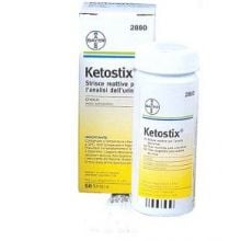 KETOSTIX STRISCE REATTIVE PER LA MISURA DELLA CHETONURIA 50 PEZZI Urinocoltura