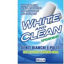 WHITE AND CLEAN CHEWING GUM 28 Spray per l'alito e chewing gum