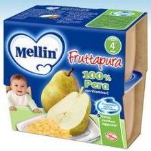 MELLIN FRUTTA PURA PERA 4X100 Merende per bambini