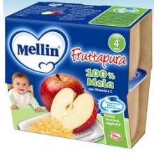 MELLIN FRUT PURA MELA 4X100G Merende per bambini