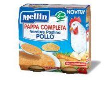 MELLIN PAPPA COMPL POLLO2X250G Brodo, passati di verdure e minestrine per bambini