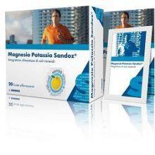Magnesio Potassio Sandoz 20 bustine Integratori Sali Minerali