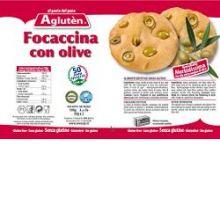 AGLUTEN FOCACCINA CON OLIVE 100G Pizza senza glutine