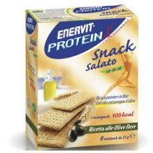 ENERVIT PROTEIN SNACK SALATO ALLE OLIVE 8 PEZZI DA 25G Alimenti sostitutivi