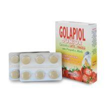 GOLAPIOL JUNIOR GUSTO LATTE E FRAGOLA 24 CARAMELLE Prodotti per gola, bocca e labbra