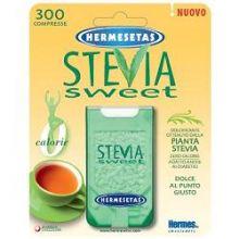 HERMESETAS STEVIA 300 COMPRESSE Dolcificanti, sale e brodo
