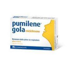 PUMILENE GOLA MIELE/LIMONE 24 PASTIGLIE Prodotti per gola, bocca e labbra