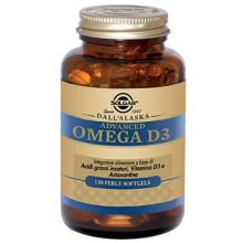 Advanced Omega D3 Solgar 120 perle softgels Omega 3, 6 e 9