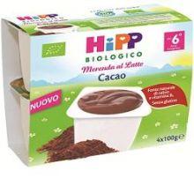HIPP BIO MERENDA AL LATTE CON CACAO 4 X 100G Merende per bambini
