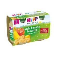 HIPP BIO OMOGENEIZZATO DI MELA BANANA E BISCOTTO 2 X 125G Omogeneizzati di frutta