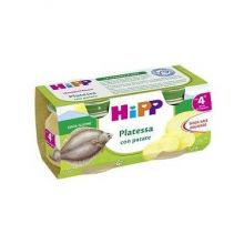 HIPP OMOGENEIZZATO DI PLATESSA 2 X 80G Omogeneizzati di pesce