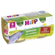HIPP OMOGENEIZZATO DI SALMONE CON VERDURE 2 X 80G Omogeneizzati di pesce
