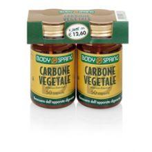 Body Spring Carbone Vegetale 2 Confezioni da 50 Capsule Digestione e Depurazione