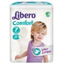 LIBERO COMFORT 7 PANNOLINI PER BAMBINI DA 16KG A 26KG 21 PEZZI Pannolini