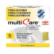 MULTICARE TRIGLICER 5STR CHIP Misuratori di colesterolo e trigliceridi