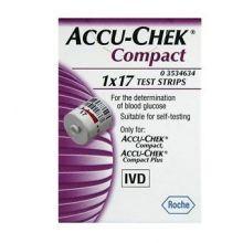 Accu-Chek Compact 17 Strisce Strisce controllo glicemia