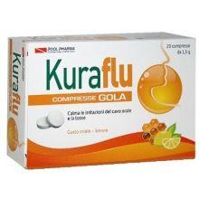 KURAFLU GOLA LIMONE E MIELE 20 COMPRESSE Prodotti per gola, bocca e labbra