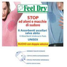 FEEL DRY ASSORBENTE ASCELLARE SALVA ABITO 6 PEZZI Deodoranti