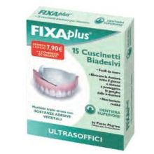 FIXAPLUS 15 CUSCINETTI ADESIVI PER DENTIERA SUPERIORE Prodotti per dentiere e protesi dentarie