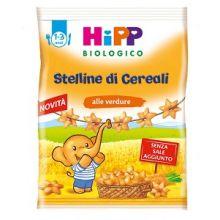 HIPP BIO STELLINE CEREALI/VERD Biscotti per bambini e corn flakes