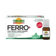 Ferrogreen Plus Ferro+ 10 Flaconcini Integratore Ferro
