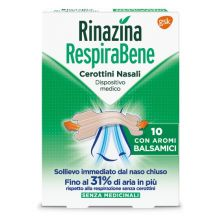 Rinazina Respirabene Aromi Balsamici 10 Cerotti Nasali Cerotti nasali