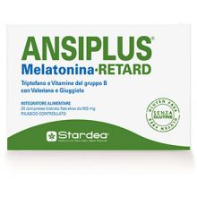 Ansiplus Melatonina Retard 20 Compresse Bistrato Calmanti e sonno