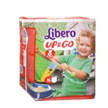 Pannolino Libero Up & Go Per Bambino Misura 8 16 Pezzi Pannolini
