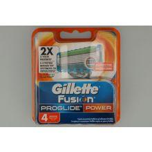 GILLETTE RICAMBI PER RASOIO PROGLIDE POWER 4 PEZZI Prodotti per la barba