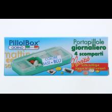 PillolBox Giorno 4 Scomparti Portapillole