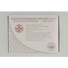 Acqua Preparazioni Iniettabili Salf 5 fiale 2ml Soluzioni fisiologiche