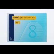 Ago Novofine Autocover G30 8mm 100 Pezzi Aghi per insulina