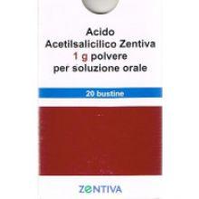 Acido Acetilsalicilico Zentiva 20 Bustine 1 g 022619100 Antinfiammatori