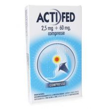 Actifed 12 Compresse 2,5mg+60mg 018723080 Farmaci per curare  raffreddore e influenza