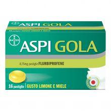 Aspi Gola 16 Pastiglie Gusto limone e miele Antinfiammatori e anestetici per la bocca