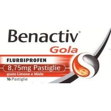 Benactiv Gola 16 Pastiglie Limone E Miele 033262027 Farmaci per mal di gola