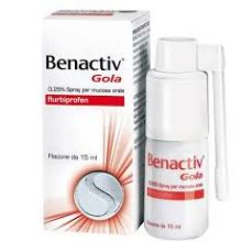 Benactiv Gola Spray 15 ml 0,25% 033262041 Spray per la gola