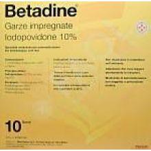 Betadine 10 Garze Impregnate 10X10cm Disinfettanti per la cute