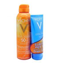 Vichy Ideal Soleir Spray Invisibile Idratante SPF 50+ 200 ml + Doposole 100 ml Doposole