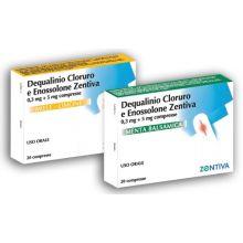 Dequalinio Cloruro E Enossolone Zentiva 0,3 mg + 5 mg Gusto Menta Balsamica 20 Compresse 014621027  Farmaci per mal di gola