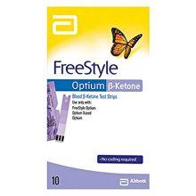 FreeStyle Optium Ketone 10 Strisce Reattive Strisce glicemia